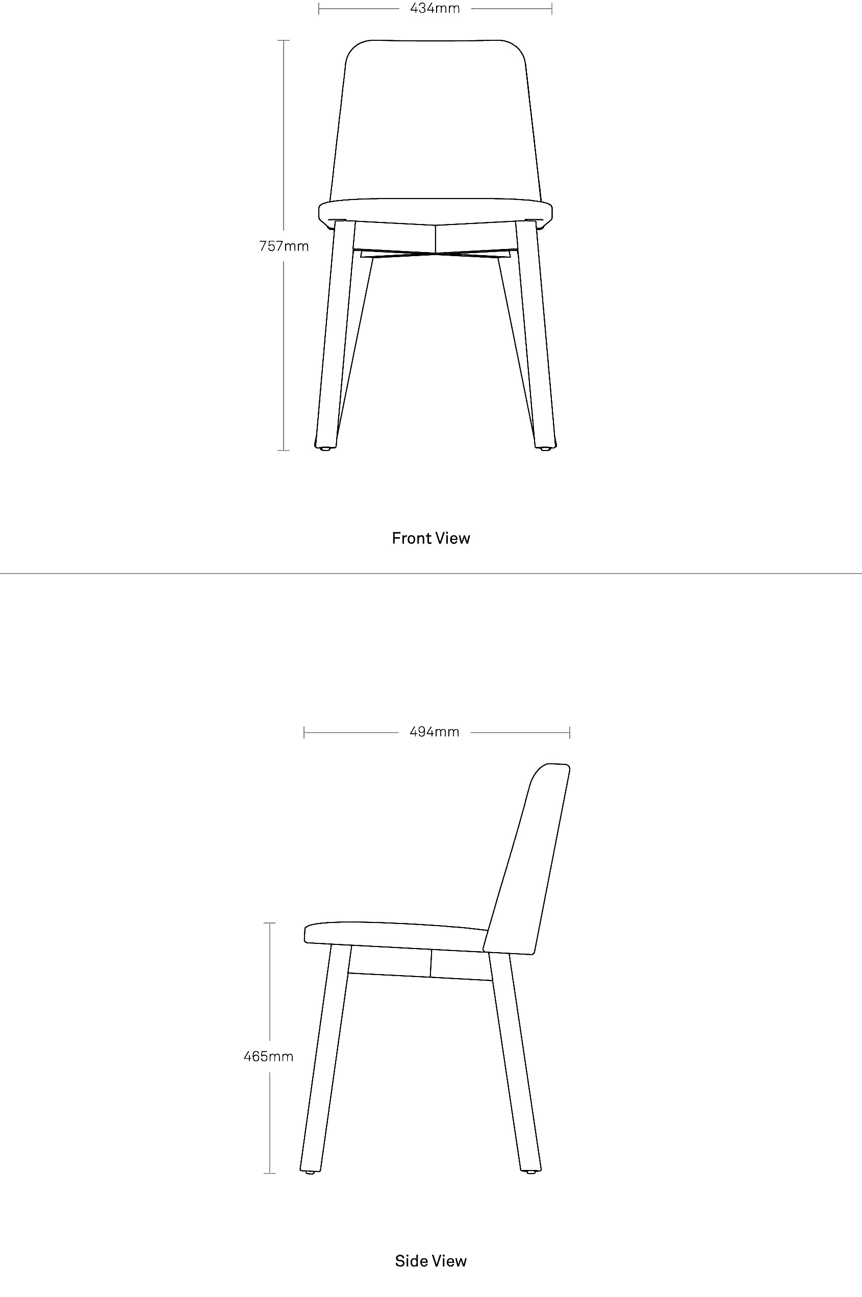 Chip Dining Chair Modern Dining Chair Blu Dot