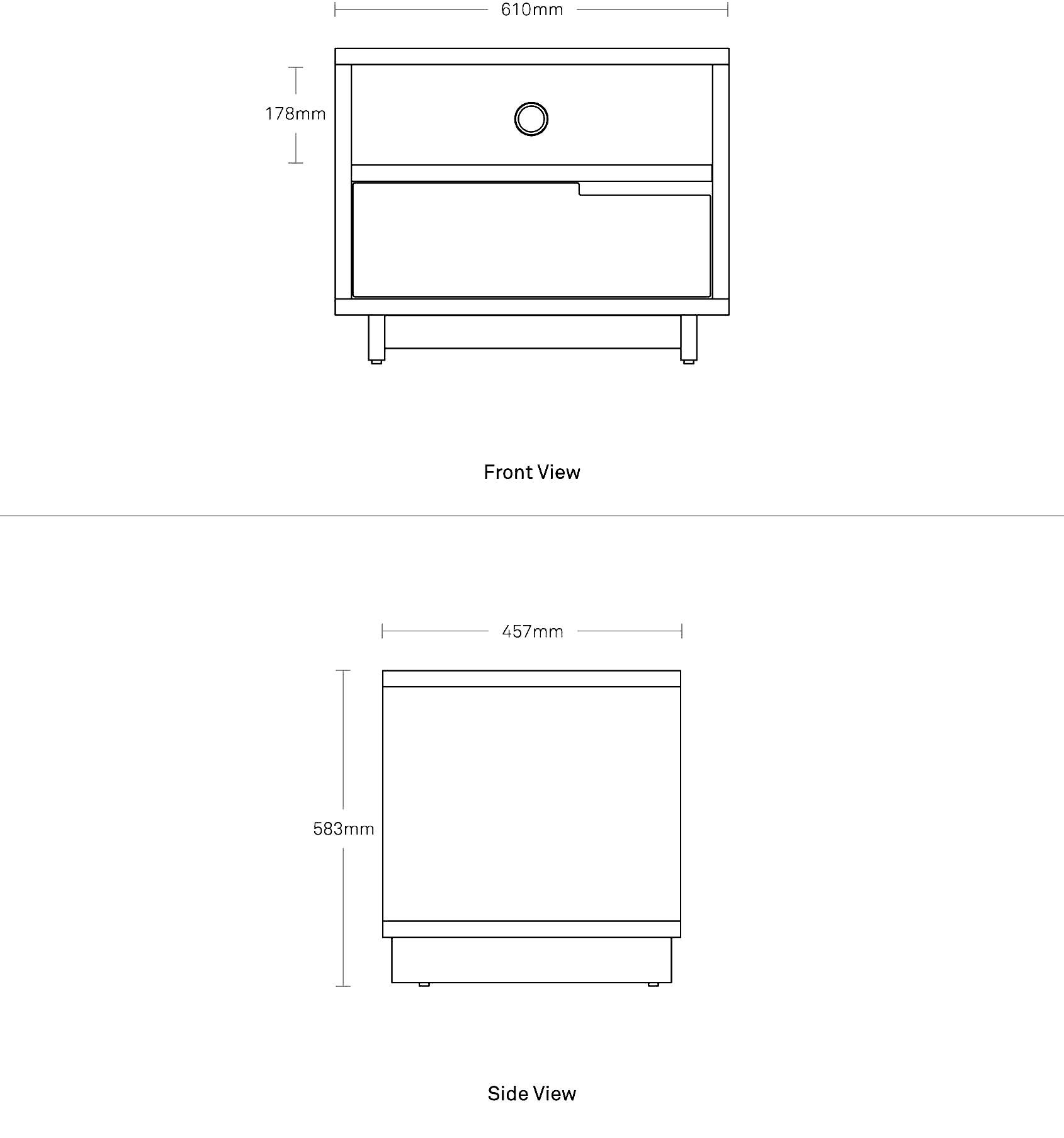Modu Licious Bedside Table Modern Dressers Amp Nightstands