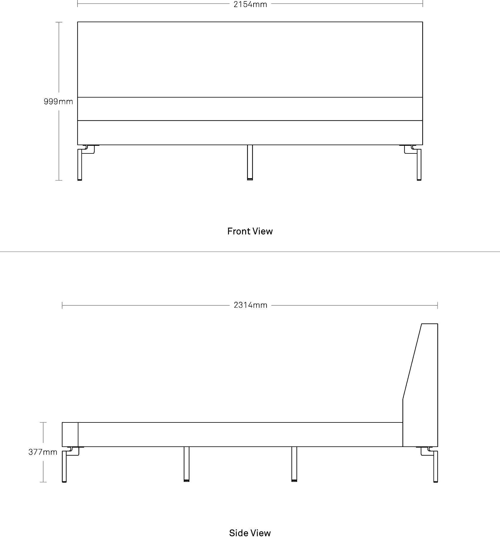 New Standard King Bed Modern Beds Blu Dot