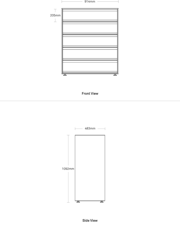 Superchoice 5 Drawer Dresser Modern Bedside Table Blu Dot