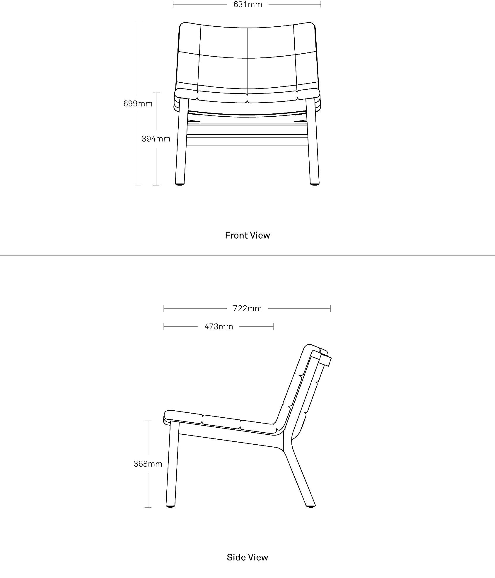 Wicket Lounge Chair Modern Seating Blu Dot
