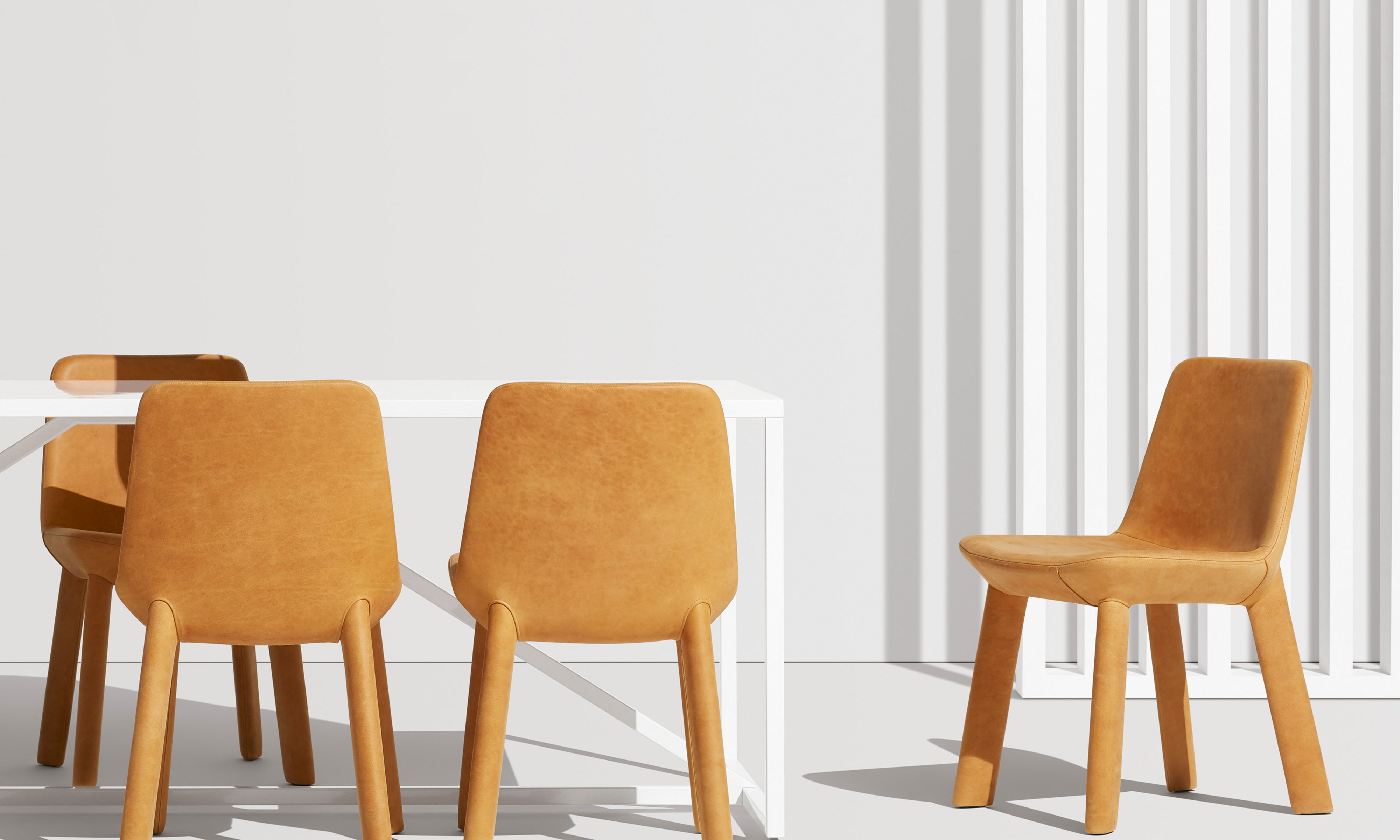 Neat Leather Dining Chair by Blu Dot