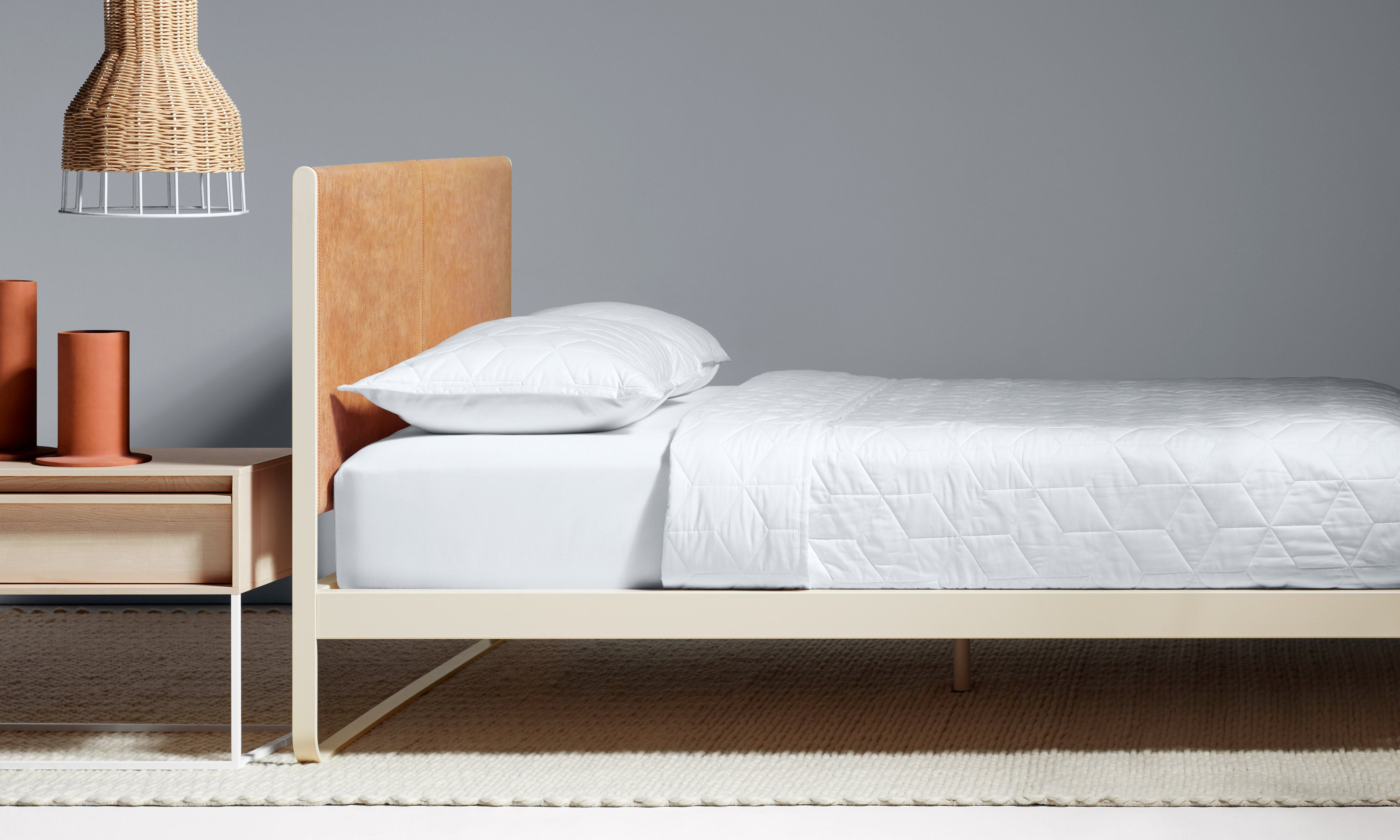 Me Time Modern Leather Twin Bed by Blu Dot