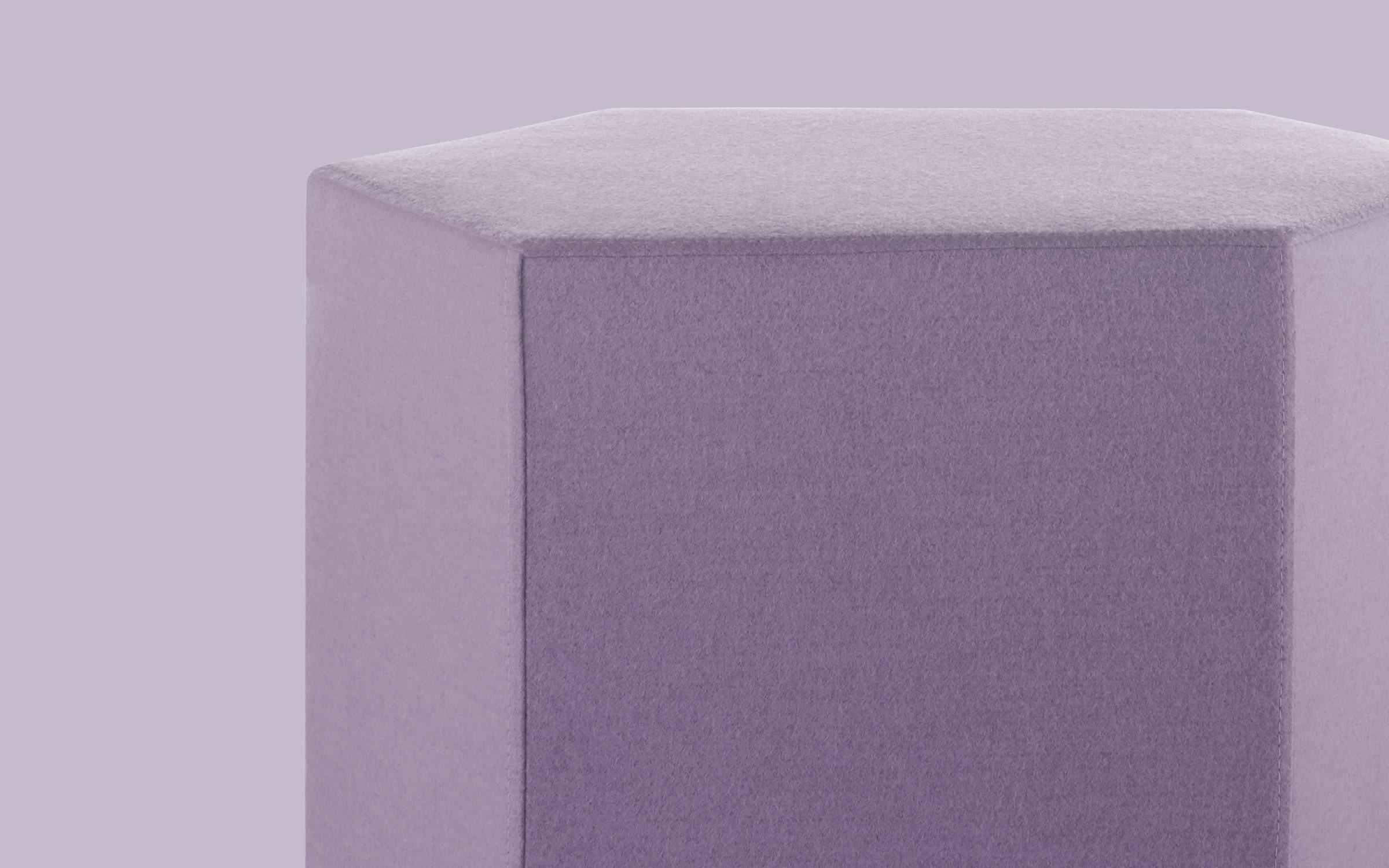 Hecks Modern Ottoman Fabric Pouf Ottoman Blu Dot