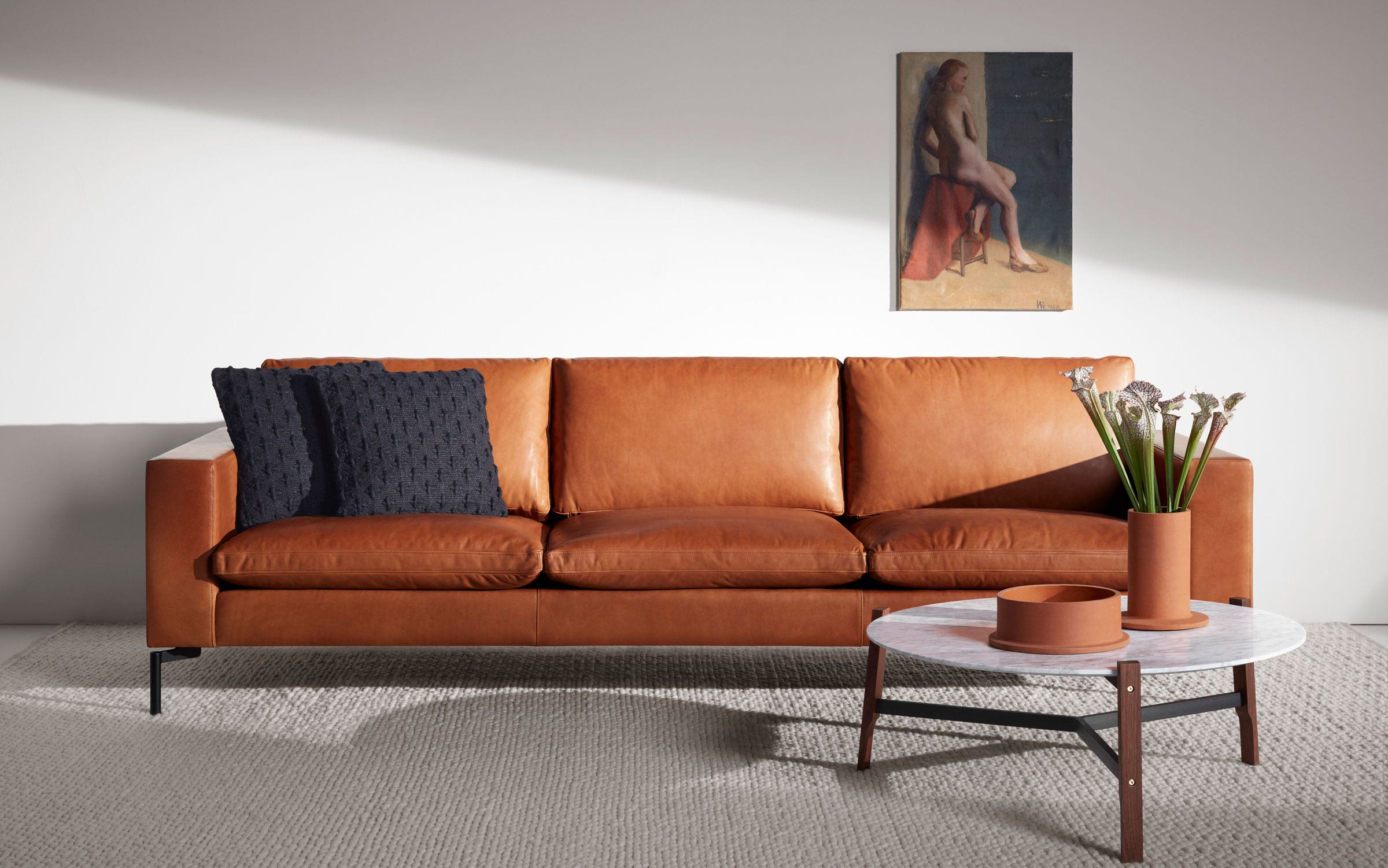 New Standard 104 Inch Leather Sofa - Modern Sofas and ...